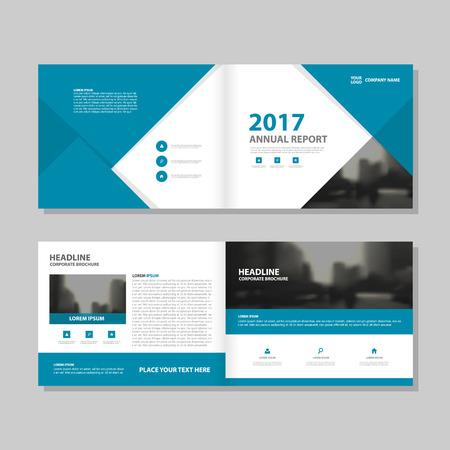 Azul abstracto del vector informe anual Folleto Folleto folleto diseño de la plantilla, diseño de diseño de la portada del libro, resumen de plantilla presentación de negocios, diseño de tamaño A4