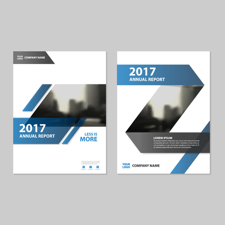 magazine template: Blue Abstract Vector annual report Leaflet Brochure Flyer template design, book cover layout design, abstract business presentation template, a4 size design Illustration
