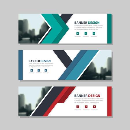 Grünes Dreieck Abstrakte Corporate Business-Banner-Vorlage, Set ...
