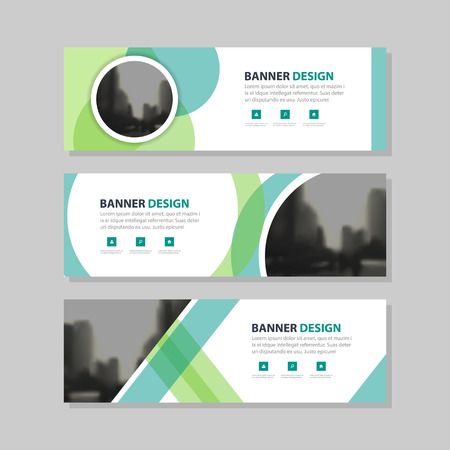 Eco green abstract circle corporate business banner template, horizontal advertising business banner layout template flat design set , clean abstract cover header background for website design