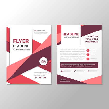 Purple triangle Abstract  Brochure Flyer Leaflet annual report  template design, book cover layout design, abstract business presentation template, a4 size design Vettoriali