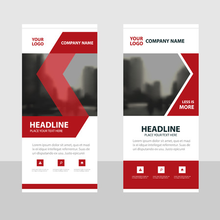 red flag up: Red black Business Roll Up Banner flat design template ,Abstract Geometric banner template Vector illustration set, abstract presentation brochure flyer template vertical template vector