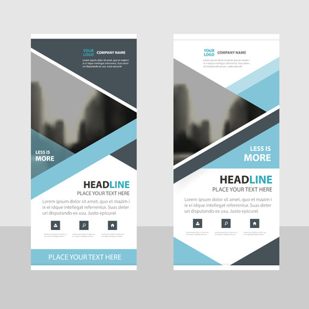 black blue: Blue black Triangle Business Roll Up Banner flat design template ,Abstract Geometric banner template Vector illustration set, abstract presentation brochure flyer template vertical template vector