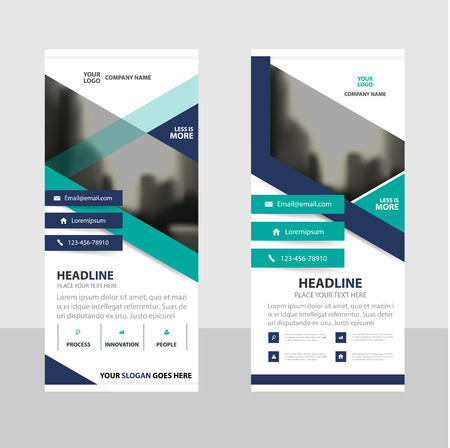 Purple Green triangle Abstract Business Roll Up Banner flat design template ,Abstract Geometric banner template Vector illustration set, abstract presentation brochure flyer template vertical template vector