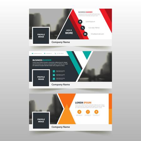 Orange Abstrakte Corporate Business-Banner-Vorlage, Horizontal ...