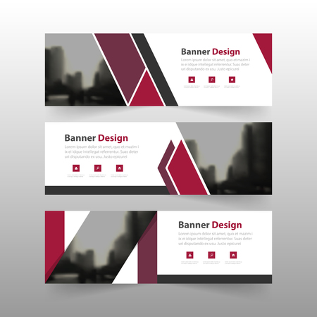 Purple corporate business banner template, horizontal advertising business banner layout template flat design set , clean abstract cover header background for website design