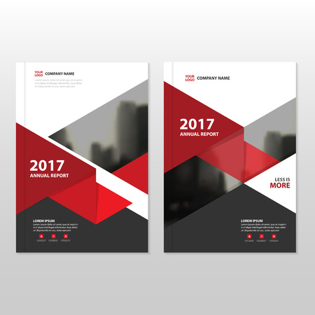 business flyer: Red triangle Vector annual report Leaflet Brochure Flyer template design, book cover layout design, abstract business presentation template, a4 size design