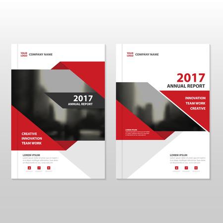Red Vector annual report Leaflet Brochure Flyer template design, book cover layout design, abstract business presentation template, a4 size design