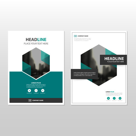 Green Hexagon Vector annual report Leaflet Brochure Flyer template design, book cover layout design, abstract business presentation template, a4 size design