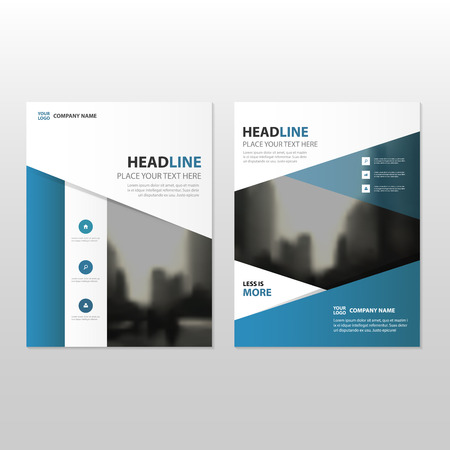 blue design: Blue Vector annual report Leaflet Brochure Flyer template design, book cover layout design, abstract business presentation template, a4 size design