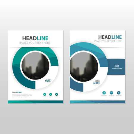 Blue circle Vector annual report Leaflet Brochure Flyer template design, book cover layout design, abstract business presentation template, a4 size design 일러스트