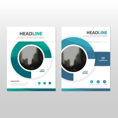 círculo azul Vector informe anual Folleto Folleto folleto diseño de la plantilla, diseño de diseño de la portada del libro, resumen de plantilla presentación de negocios, diseño de tamaño A4
