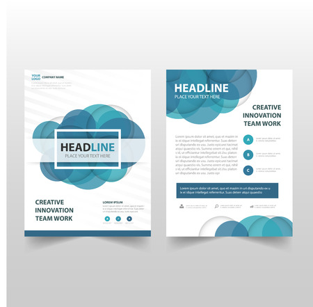 Blue circle Vector annual report Leaflet Brochure Flyer template design, book cover layout design, abstract business presentation template, a4 size design Фото со стока - 61212896