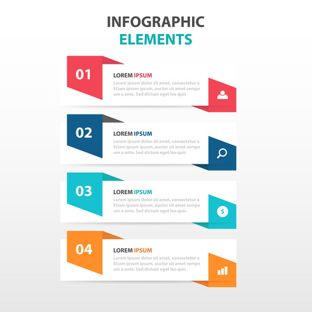 web template: Abstract business Infographics elements, presentation template flat design vector illustration for web design