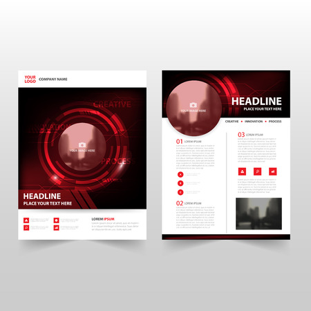 red black: Red black technology Vector annual report Leaflet Brochure Flyer template design, book cover layout design, abstract business presentation template, a4 size design