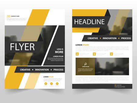 amarillo y negro: Amarillo negro del folleto del asunto Folleto folleto diseño de la plantilla de informe anual, diseño diseño de la portada del libro, resumen de plantilla presentación de negocios, diseño de tamaño A4