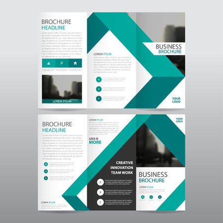 Bleu trifold triangle d'affaires Dépliant Brochure Flyer modèle de rapport vecteur minimal set design plat, résumé trois modèles de pliage présentation de mise en page au format A4 Vecteurs