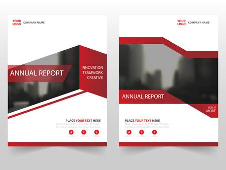 Brochure d'entreprise Red Dépliant Flyer conception de modèle de rapport annuel, la conception couverture du livre de présentation, résumé modèle de présentation de l'entreprise, a4 conception de taille Vecteurs