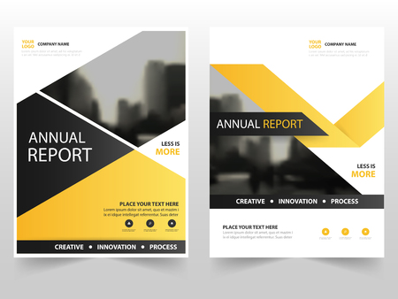 black yellow: Yellow black business Brochure Leaflet Flyer annual report template design, book cover layout design, abstract business presentation template, a4 size design
