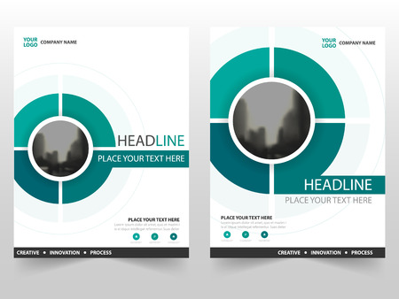Green circle Vector annual report Leaflet Brochure Flyer template design, book cover layout design, abstract business presentation template, a4 size design