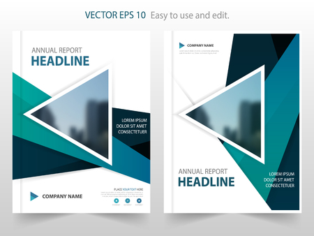 magazine cover: Blue triangle abstract annual report Brochure design template vector. Business Flyers infographic magazine poster.Abstract layout template ,Book Cover presentation portfolio.