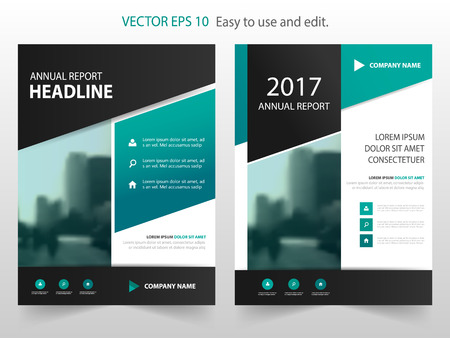 magazine cover: Green black abstract annual report Brochure design template vector. Business Flyers infographic magazine poster.Abstract layout template ,Book Cover presentation portfolio.