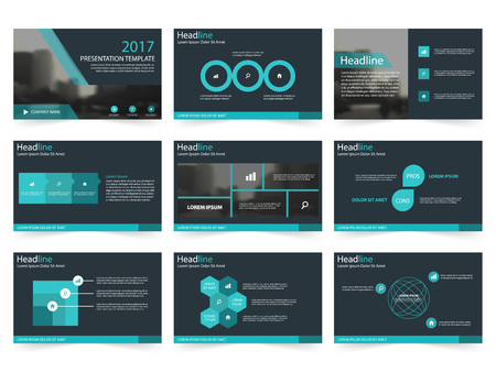 keynote: Blue Abstract presentation templates, Infographic elements template flat design set for annual report brochure flyer leaflet marketing advertising banner template Illustration