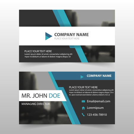 Blue black corporate business card name card template horizontal blue black corporate business card name card template horizontal simple clean layout design template reheart Choice Image