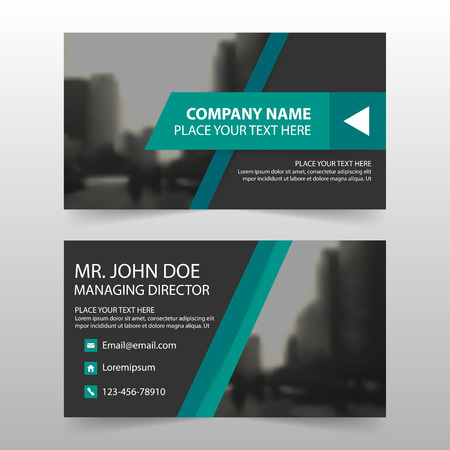 BANNER DESIGN: Green black corporate business card, name card template ,horizontal simple clean layout design template , Business banner card for website