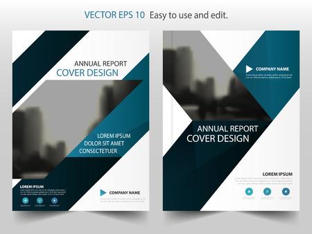 Blauwe driehoek abstract jaarverslag ontwerp van de brochure template vector. Zakelijke Flyers infographic tijdschrift poster.Abstract layout template, Book Cover presentatie portfolio.