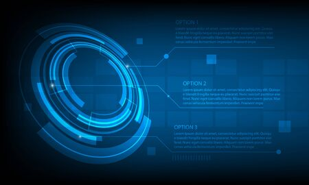 futuristic background: Abstract Circle infographic digital technology background, futuristic structure elements concept background design