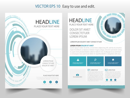 Blue abstract Technology Brochure annual report design template vector. Business Flyers infographic magazine poster.Abstract layout template ,Book Cover presentation portfolio. Illustration