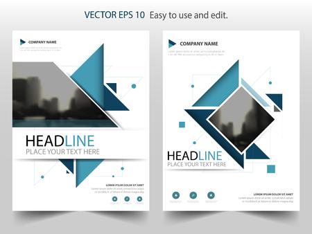 Blue abstract driehoek jaarverslag Brochure design template vector. Zakelijke Flyers infographic tijdschrift poster.Abstract lay-out template, Book Cover presentatie portfolio.