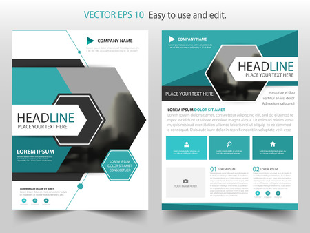ad: Blue abstract hexagon annual report Brochure design template vector. Business Flyers infographic magazine poster.Abstract layout template ,Book Cover presentation portfolio. Illustration