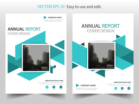Vector cuadrado abstracto azul de la plantilla del diseño del folleto del informe anual. Cartel de la revista infografía Business Flyers. Plantilla de diseño abstracto, cartera de presentación de portada de libro.