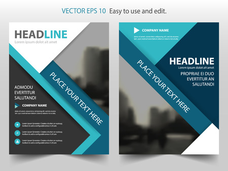 template: Blue Black Vector annual report Leaflet Brochure Flyer template design, book cover layout design, abstract business presentation template, a4 size design Illustration