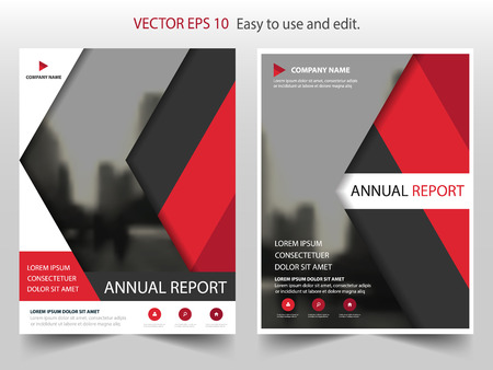 ad: Red black Vector Brochure annual report Leaflet Flyer template design, book cover layout design, abstract business presentation template, a4 size design Illustration