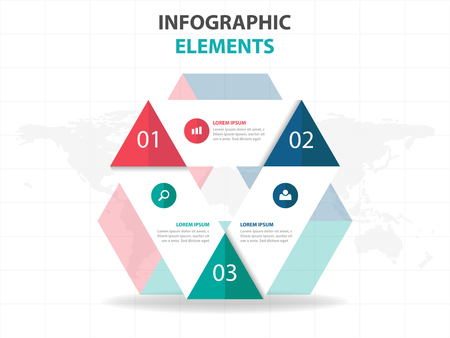 web design elements: Abstract triangle business Infographics elements, presentation template flat design vector illustration for web design marketing advertising