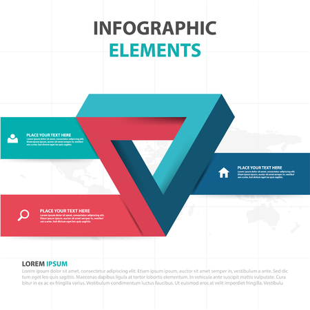 web template: Abstract colorful triangle business Infographics elements, presentation template flat design illustration for web design marketing advertising. Illustration