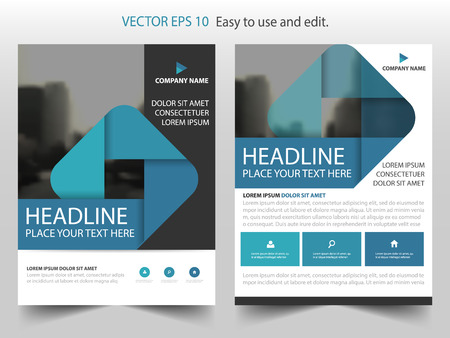Blue black square Vector Brochure annual report Leaflet Flyer template design, book cover layout design, abstract business presentation template, a4 size design Vectores