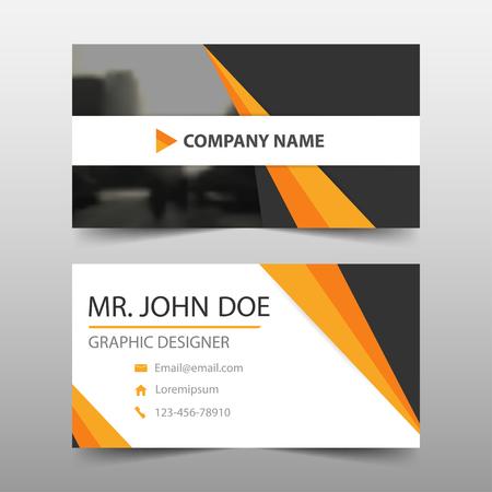 website layout: Orange black corporate business card, name card template ,horizontal simple clean layout design template , Business banner template for website Illustration