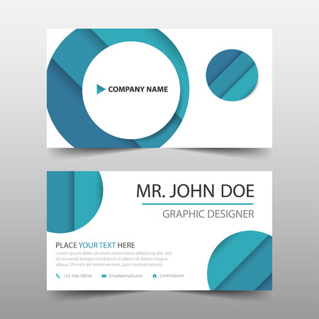Blue circle corporate business card name card template horizontal blue circle corporate business card name card template horizontal simple clean layout design template cheaphphosting Image collections