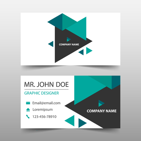 Green triangle corporate business card name card template green triangle corporate business card name card template horizontal simple clean layout design template maxwellsz