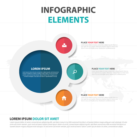 Abstract colorful circle business Infographics elements, presentation template flat design vector illustration for web design marketing advertising Vectores