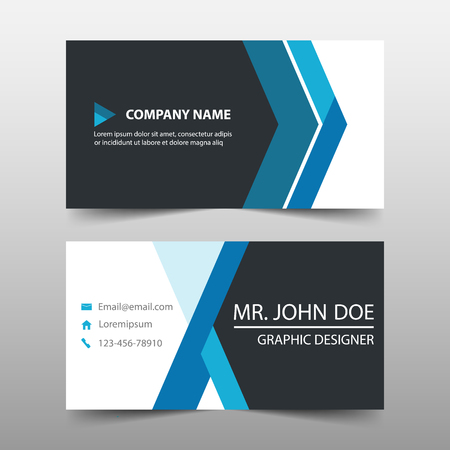 Blue corporate business card name card template horizontal blue corporate business card name card template horizontal simple clean layout design template maxwellsz