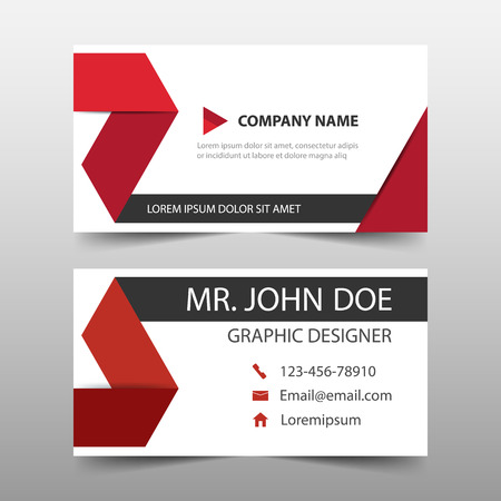 Red corporate business card name card template horizontal red corporate business card name card template horizontal simple clean layout design template fbccfo Image collections