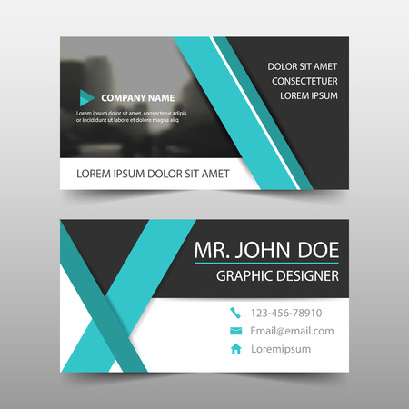 Blue corporate business card name card template horizontal blue corporate business card name card template horizontal simple clean layout design template accmission Images