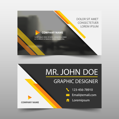 Yellow corporate business card name card template horizontal vector yellow corporate business card name card template horizontal simple clean layout design template business banner template for website friedricerecipe Gallery