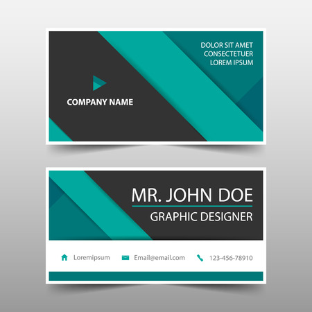 Green corporate business card name card template horizontal green corporate business card name card template horizontal simple clean layout design template cheaphphosting Image collections