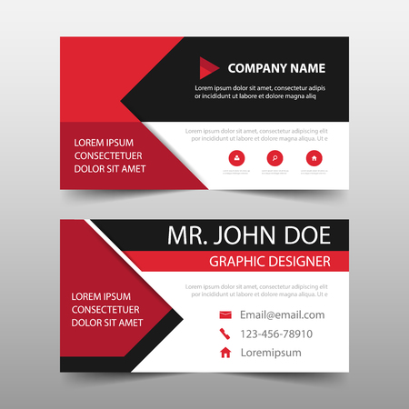 Red corporate business card name card template horizontal simple red corporate business card name card template horizontal simple clean layout design template accmission